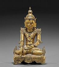 Antique Thai Gilt Papier-Mâché Temple Figure
