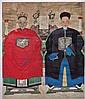 Antique Chinese Ancestral Double Portrait