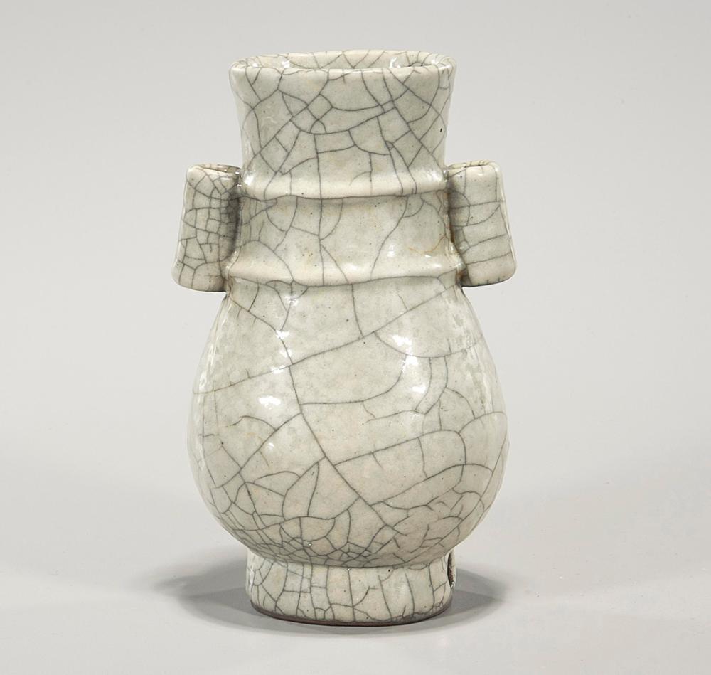 Chinese Ge-Type Porcelain Arrow Vase
