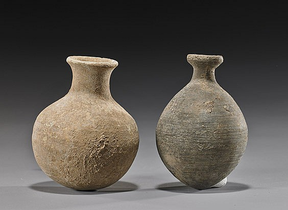 Two Ancient Miniature Pottery Vases