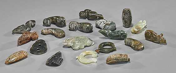 19 Various Chinese Carved Jades/Hardstones