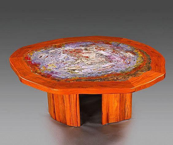 A Fine Petrified Wood Slice Coffee Table