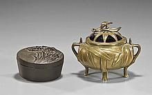 Two Chinese Items: Box & Censer