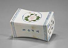 Chinese Enameled Porcelain Pillow