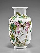 Old Chinese Famille Rose Porcelain Vase