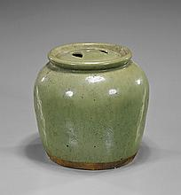 Antique Chinese Green Glaze Porcelain Jar
