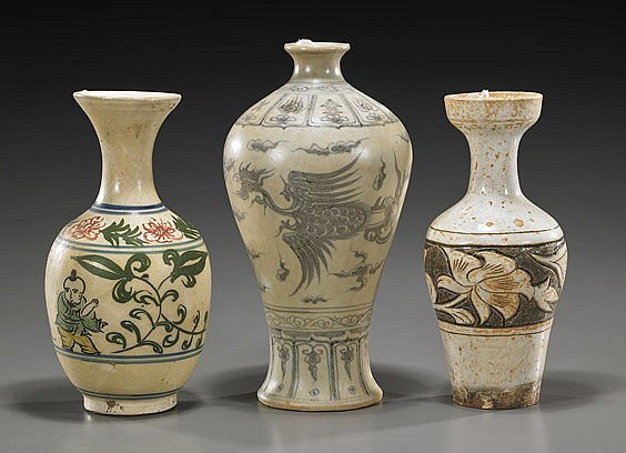 Three Various Chinese Ceramic Vases