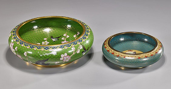 Two Chinese Cloisonné Enamel Bowls