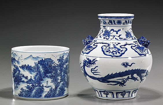 Two Chinese Blue and White Porcelains