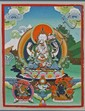 Framed Tibetan Thanka: White Tara