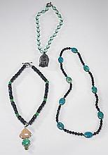 Three Various Chinese Bead Necklaces