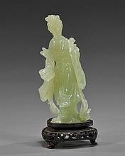 Chinese Carved Bowenite Standing Beauty