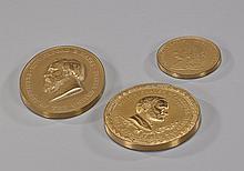 Three Various Antique Bronze Medallions
