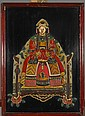 Chinese Appliqué Lacquer Panel: Emperor