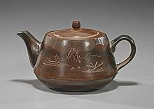 Chinese Yixing-Type Pottery Teapot