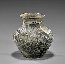 Chinese Han Dynasty Archaic Pottery Jar