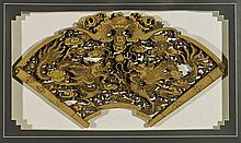 Antique Chinese Wood Carving of Dragons