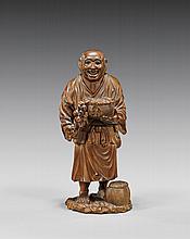 ANTIQUE JAPANESE WOOD OKIMONO