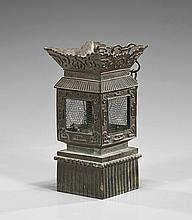 Old Chinese Bronze Square Lantern