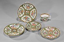 Group of 5 Antique Rose Medallion Porcelains