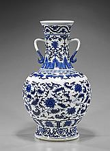 Large Qianlong-Style Blue & White Vase