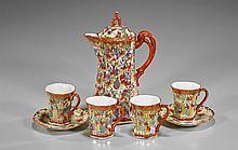 Japanese Enameled Porcelain Tea Set