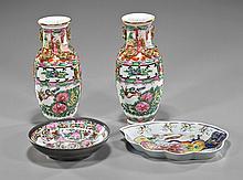Four Chinese Enameled Porcelain Items