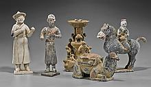 Group of Five Chinese Early-Style Potteries