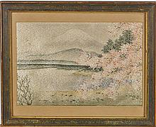 Early 20th Century Japanese Silk Embroidery