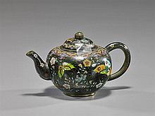 Antique Japanese Miniature Cloisonné Teapot