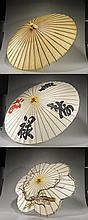 Group of Three Old Japanese Parasols