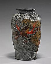 Unusual Antique Japanese Pottery Vase
