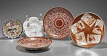 Group of Five Antique Kutani Porcelains