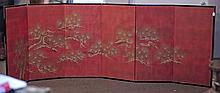 Japanese 6-Panel Screen: Pine Branches