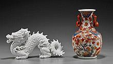 Two Various Porcelains: Vase & Dragon