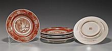 Set of 6 Antique Japanese Kutani Plates