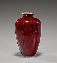 Japanese Cloisonné Enamel Hexagonal Vase