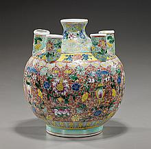 Unusual Chinese Famille Rose Porcelain Vessel