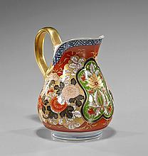 Japanese Imari-Style Porcelain Ewer