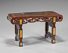 Miniature Carved Hardwood Altar Table