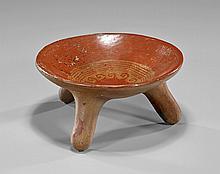 Pre-Columbian Tripod Pottery Dish