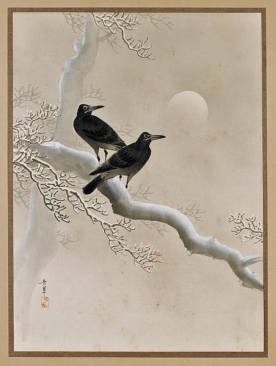 ANTIQUE JAPANESE PAINTING BY HOSUI