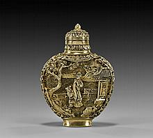 IMPORTANT SOLID GOLD SNUFF BOTTLE
