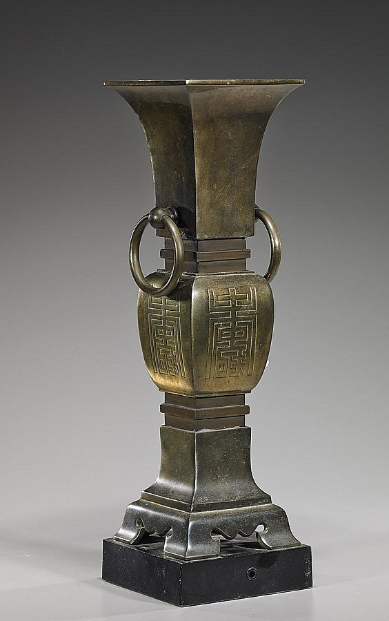 Old Chinese Archaistic Bronze Urn