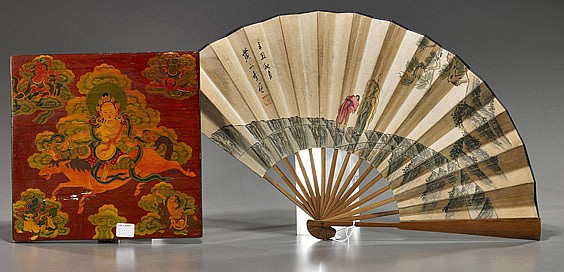 Chinese Fan & Sino-Tibetan Plaque