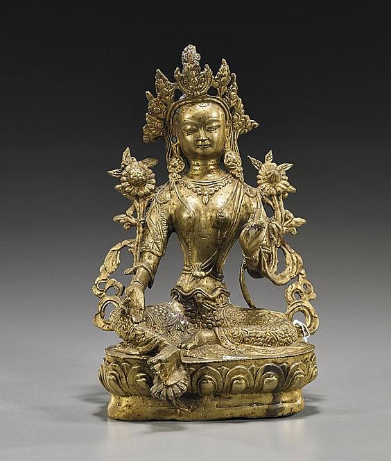 Nepalese Bronze Seated Deity