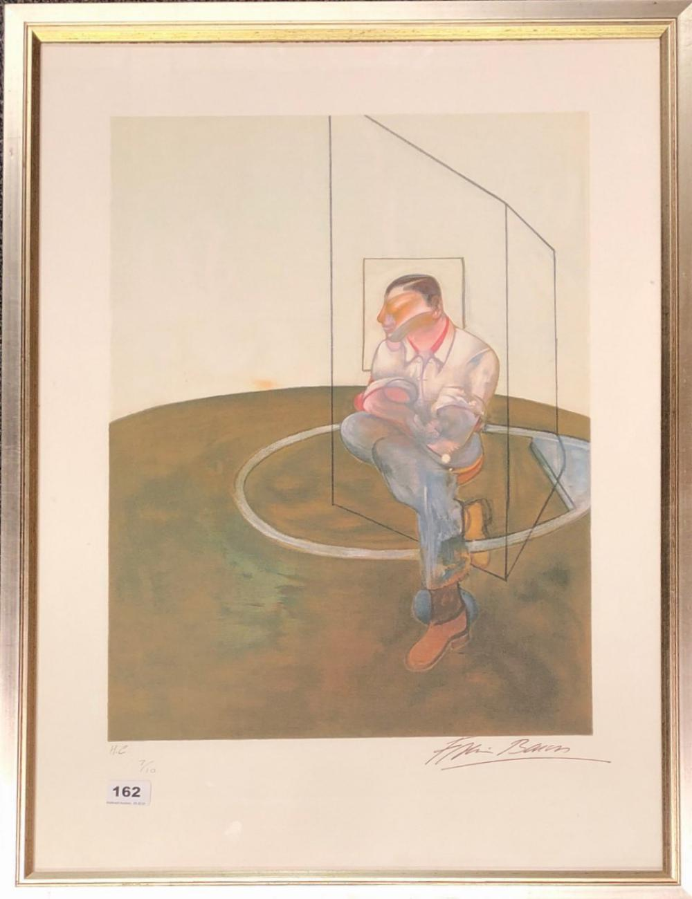 Francis Bacon. A framed lithograph 7/10 framed size 61 x 81cm, Prov. given by the estate beneficiary to the vendor.
