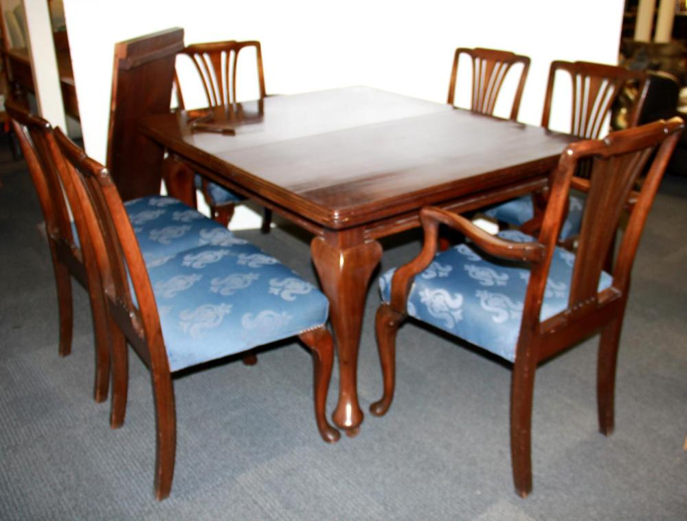 Outstanding A 1920S Wined Out Mahogany Dining Table And Six Chairs Din Cjindustries Chair Design For Home Cjindustriesco