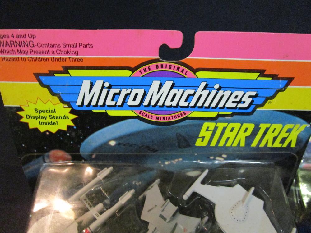 Lot of 3 Vintage Star Trek Micro Machines Sets in the Packag