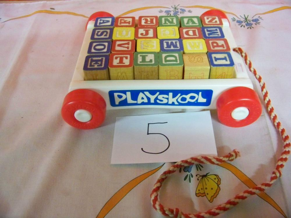 Playskool Wooden Blocks Pull Toy